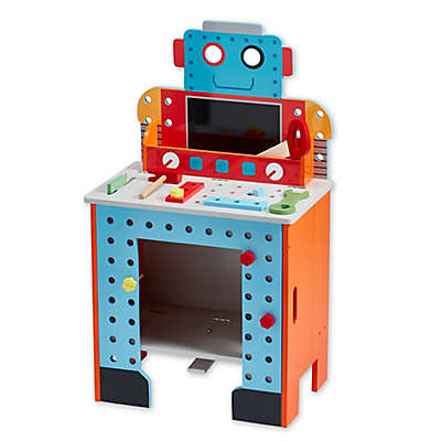 Teamson Kids Pretend Play Little Engineer Foldable Robot Workbench