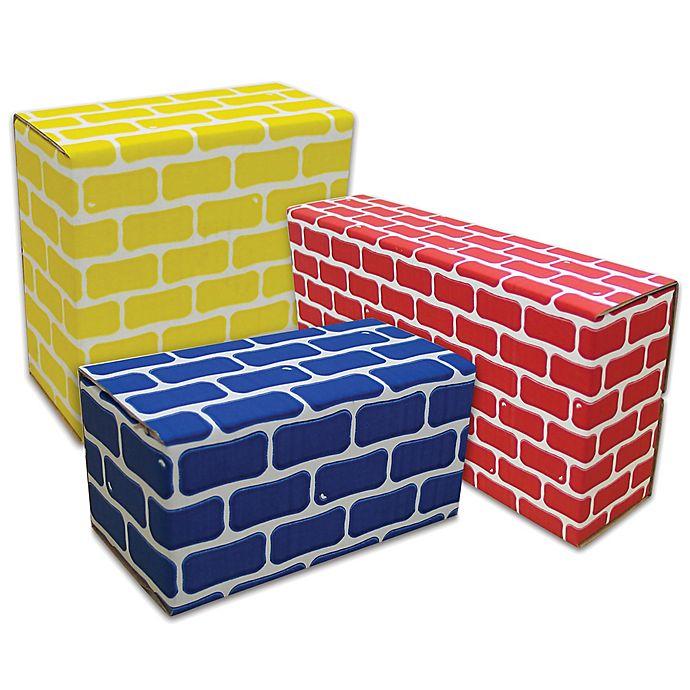 Alternate image 1 for Edushape® 84-Piece Corrugated Blocks