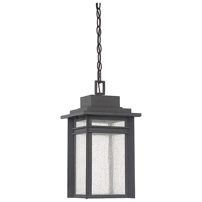 Alternate image 1 for Quoizel Beacon Outdoor Hanging Lantern in Stone Black