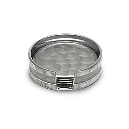 Julia Knight® Classic 5-Piece Coaster Set in Platinum