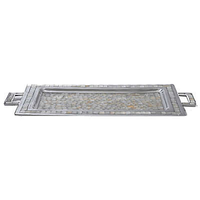 Julia Knight® Classic 25-Inch Rectangular Tray with Handles in Mother of Pearl