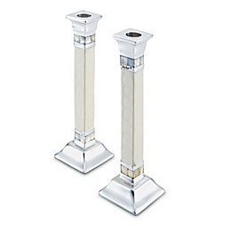 Julia Knight® 9.5-Inch Candlestick in Snow (Set of 2)