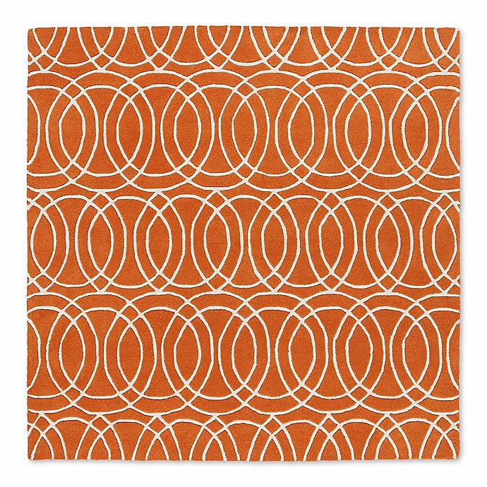 Alternate image 1 for Kaleen Tara Concentric 11-Foot 9-Inch Square Area Rug in Orange