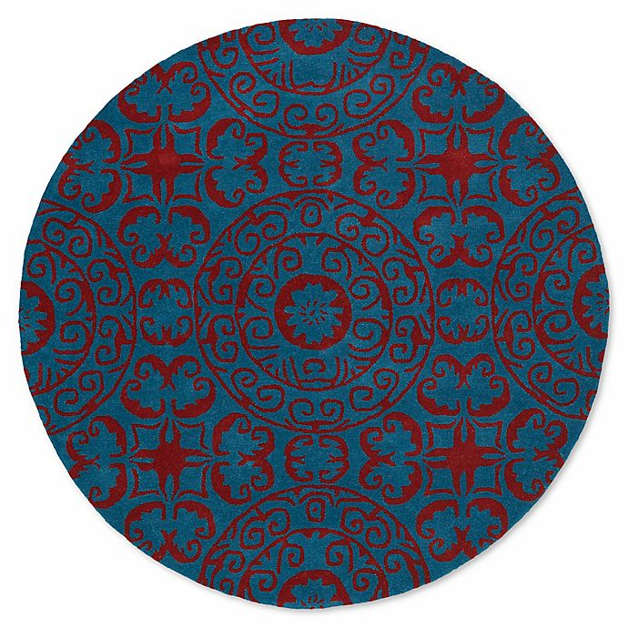 Alternate image 1 for Kaleen Tara 11-Foot 9-Inch Round Area Rug in Peacock