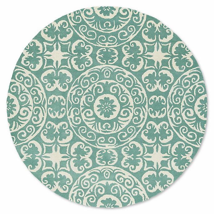 Alternate image 1 for Kaleen Tara 11-Foot 9-Inch Round Area Rug in Mint