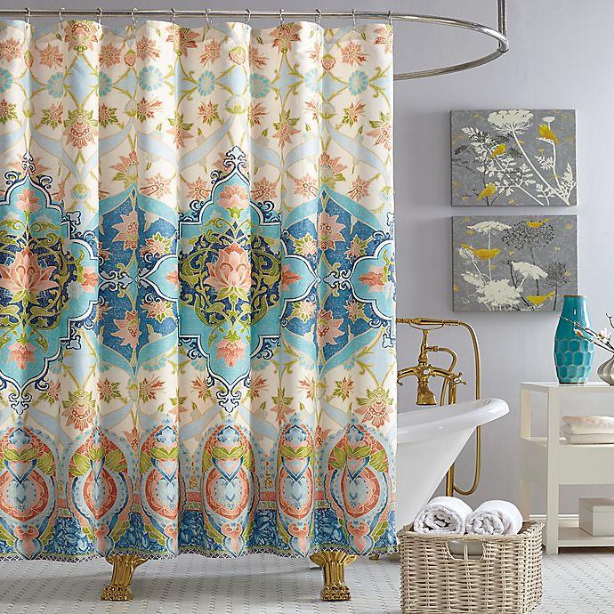 Alternate image 1 for Jessica Simpson Aquarius Shower Curtain in Blue