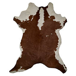 Natural Rugs Calfskin Cowhide 2-Foot x 3-Foot Accent Rug