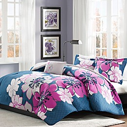 Mi Zone Allison Comforter Set in Fuchsia