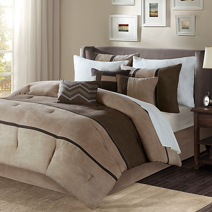 Alternate image 1 for Madison Park Palisades Queen Duvet Cover Set in Brown
