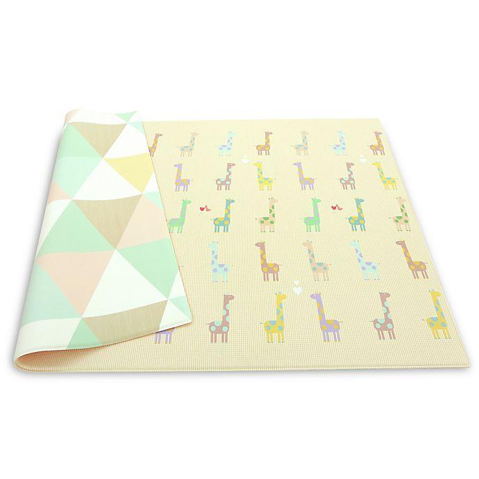 Alternate image 1 for BABY CARE™ Reversible Giraffe in Love Playmat