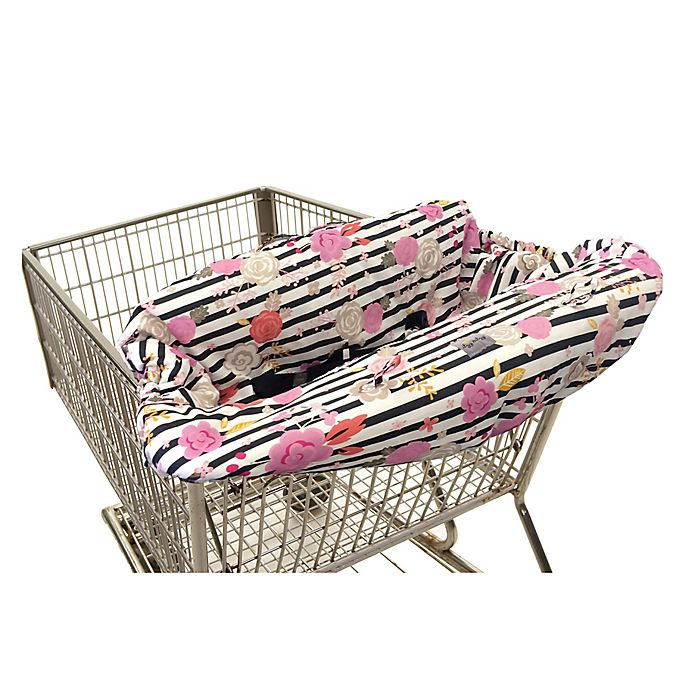 Alternate image 1 for Itzy Ritzy® Ritzy Sitzy™ Shopping Cart and High Chair Cover in Floral Stripe