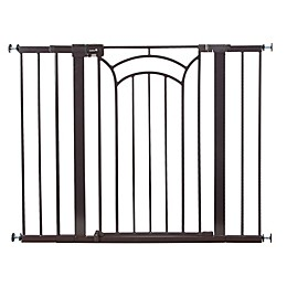 Safety 1st® Easy Install Décor Tall and Wide Walk-Thru Gate in Brown