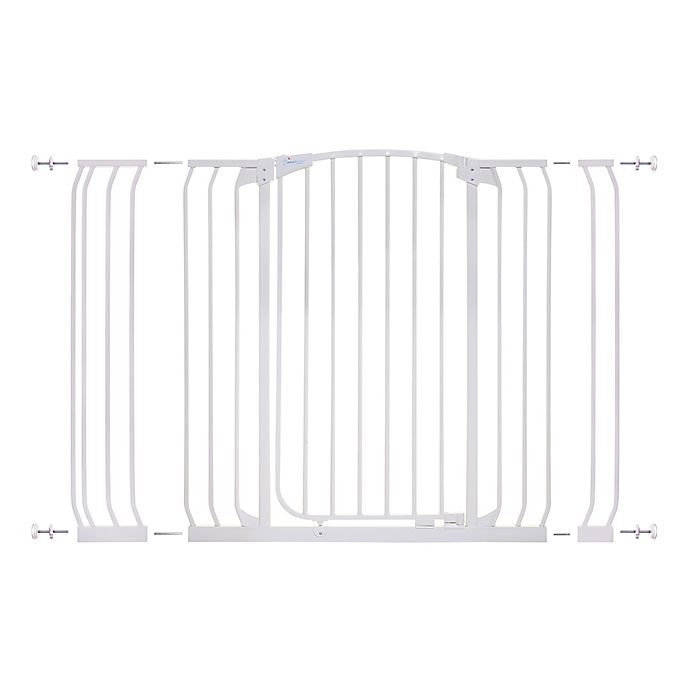 Alternate image 1 for Dreambaby® Chelsea Tall Hallway Auto Close Stay Open Security Gate Value Pack in White