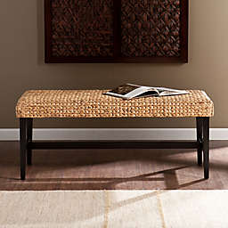 Southern Enterprises Water Hyacinth Bench in Black/Natural