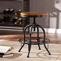 Southern Enterprises Industrial Adjustable Stool in Pine