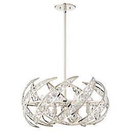 Quoizel Platinum Collection Crescent 6-Light Pendant in Nickel