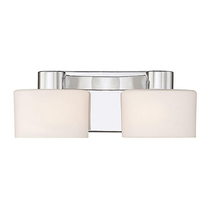 Alternate image 1 for Quoizel® Tatum 2-Light LED Vanity Light in Polished Chrome