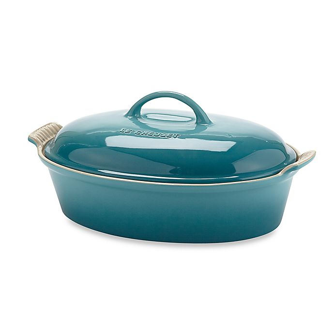 Alternate image 1 for Le Creuset® 4-Quart Oval Covered Casserole