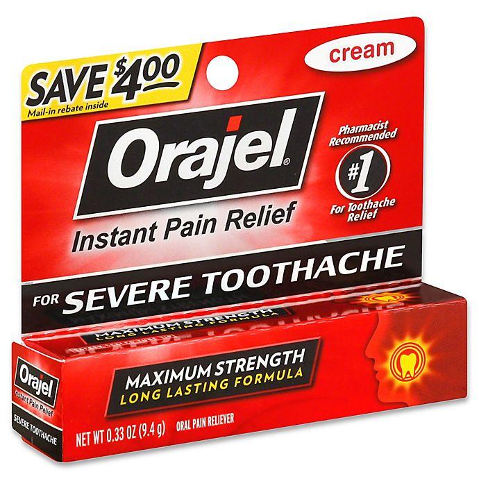 Alternate image 1 for Orajel® .33 oz. Maximum Strength Instant Pain Relief Cream for Severe Tooth Ache