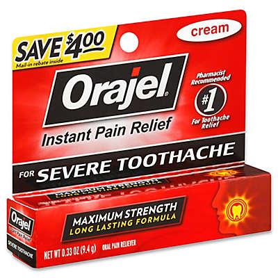 Orajel® .33 oz. Maximum Strength Instant Pain Relief Cream for Severe Tooth Ache
