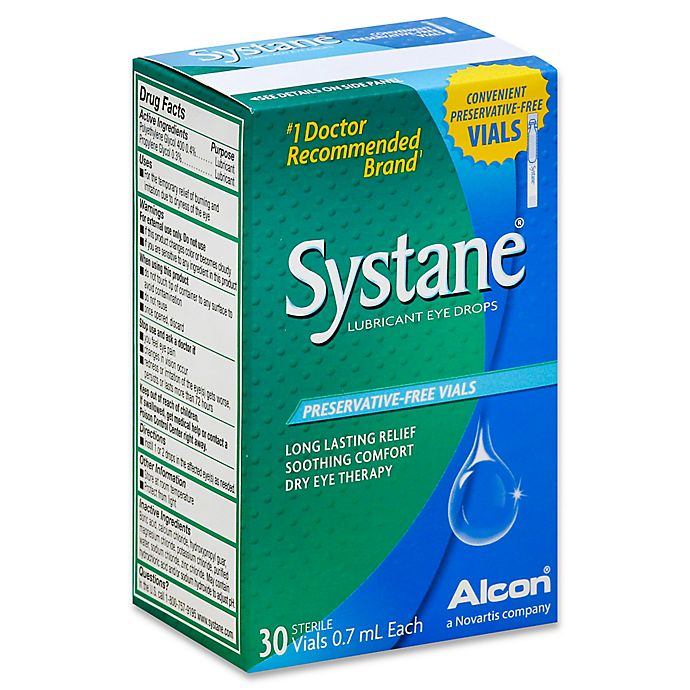 Alternate image 1 for Alcon® Systane® 30-Count Lubricant Eye Drops .7mL Vials