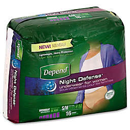 Depend® Night Defense Size S/M 16-Count Overnight Underwear for Women