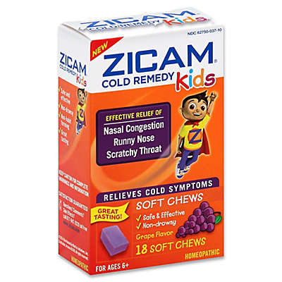 Zicam® 18-Count Cold Remedy Relief Soft Chews for Kids in Grape Flavor