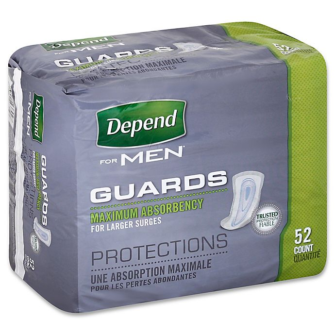 Alternate image 1 for Depend® 52-Count Maximum Absorbency Guards for Men
