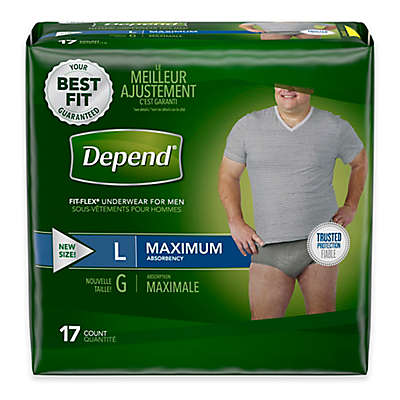 Depend® Fit-Flex™ Size Large 17-Count Maximum Absorbency Underwear for Men