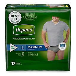 Depend® Fit-Flex™ Size Large 17-Count Maximum Absorbency Underwear for Men