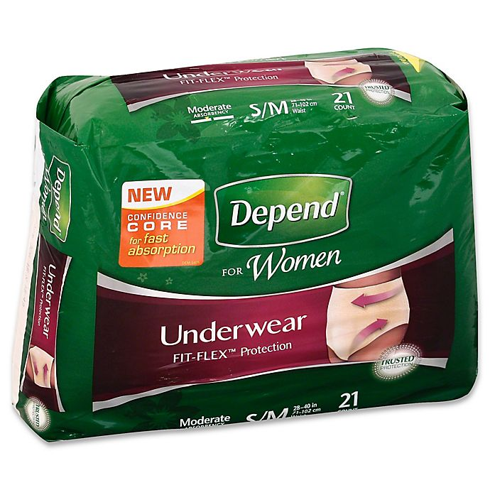 Alternate image 1 for Depend® Fit-Flex™ Size S/M 21-Count Moderate Absorbency Underwear for Women