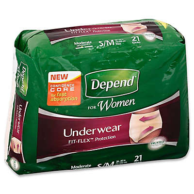 Depend® Fit-Flex™ Size S/M 21-Count Moderate Absorbency Underwear for Women
