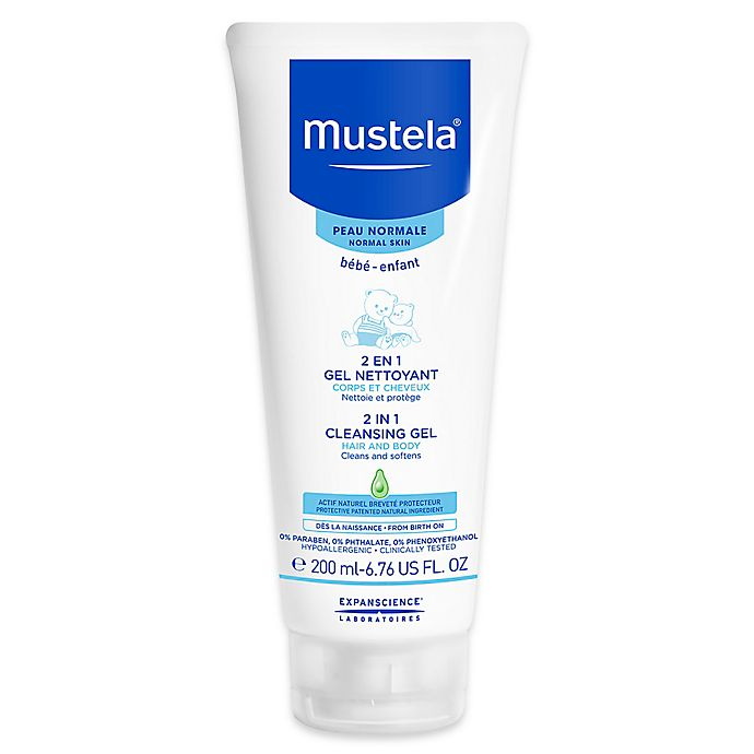 Alternate image 1 for Mustela® 6.76 fl. oz. 2-in-1 Cleansing Gel for Normal Skin