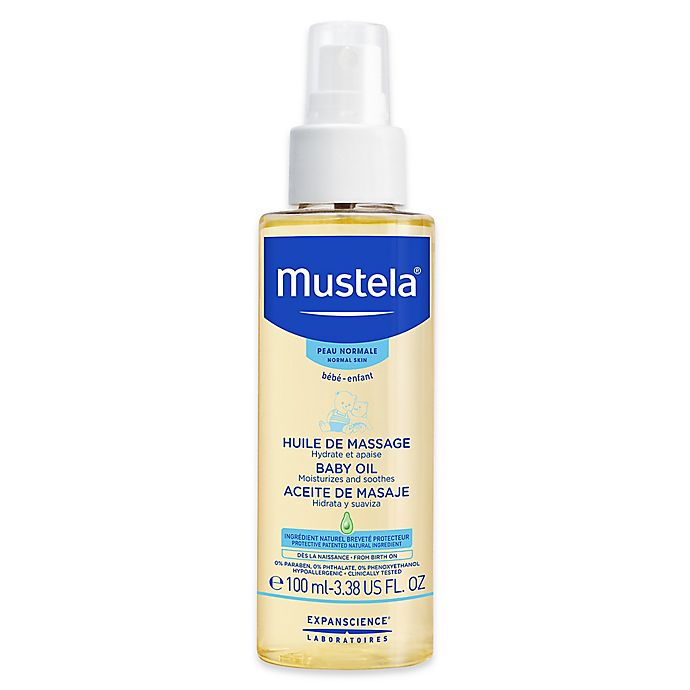 Alternate image 1 for Mustela® 3.38 oz. Baby Oil for Normal Skin
