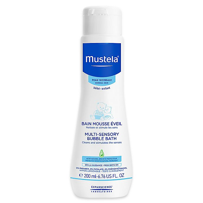 Alternate image 1 for Mustela® 6.76 oz. Multi-Sensory Bubble Bath for Normal Skin