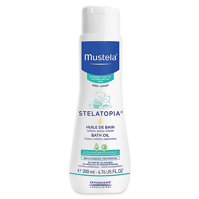 Alternate image 1 for Mustela® Stelatopia® 6.76 oz. Bath Oil for Extremely Dry to Eczema-Prone Skin