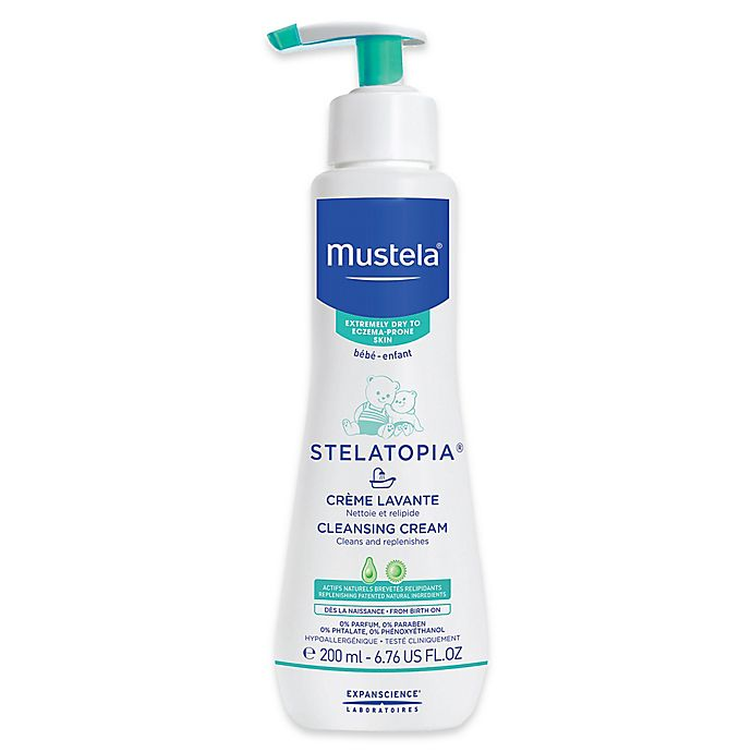 Alternate image 1 for Mustela® Stelatopia® 6.7 oz. Cleansing Cream for Extremely Dry to Eczema-Prone Skin