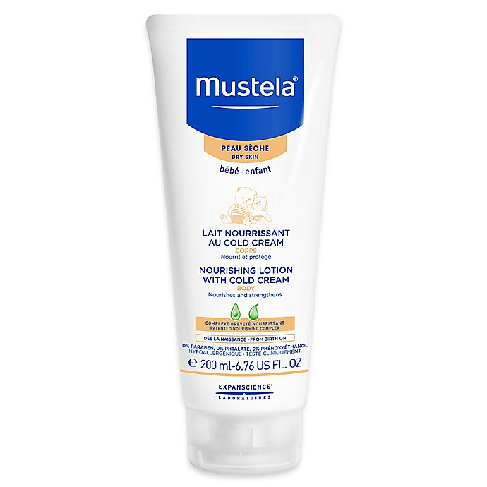 Alternate image 1 for Mustela® 6.76 oz. Nourishing Body Lotion with Cold Cream for Dry Skin