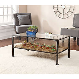 Southern Enterprises Terrarium Display Cocktail, Console and End Table Collection
