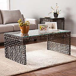 Southern Enterprises Loni Woven Cocktail Table