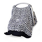 Itzy Ritzy® Cozy Happens™ Infant Car Seat Canopy and Tummy Time Mat in XOXO Black/White