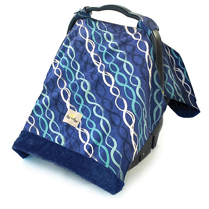 Alternate image 1 for Itzy Ritzy® Cozy Happens™ Infant Car Seat Canopy and Tummy Time Mat in Indigo Heliz