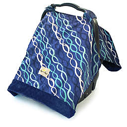 Itzy Ritzy® Cozy Happens™ Infant Car Seat Canopy and Tummy Time Mat in Indigo Heliz