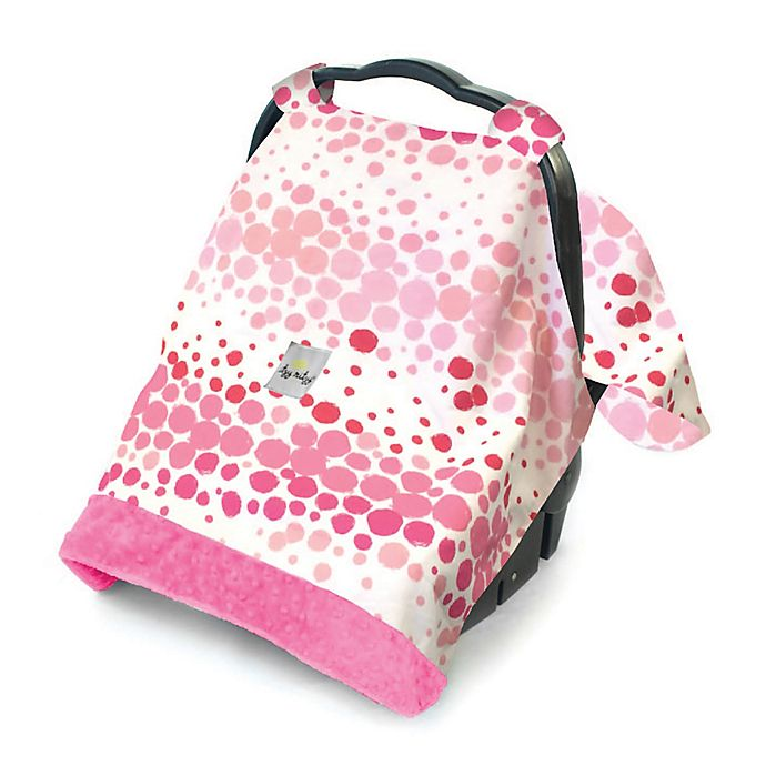 Alternate image 1 for Itzy Ritzy® Cozy Happens™ Infant Car Seat Canopy and Tummy Time Mat in Pink Ombré Dot