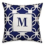 Designs Direct Geo Prep Collection Locking Circles Square Throw Pillow in Blue