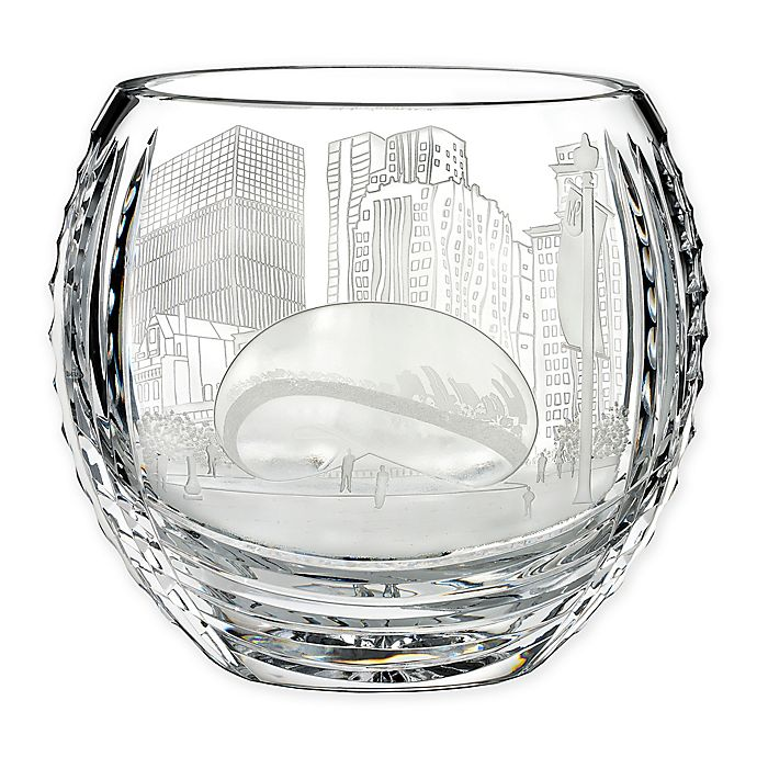 Alternate image 1 for House of Waterford® America the Beautiful Chicago Oval Bowl