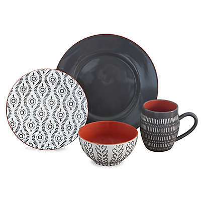 Baum Tangiers 16-Piece Dinnerware Set in Grey