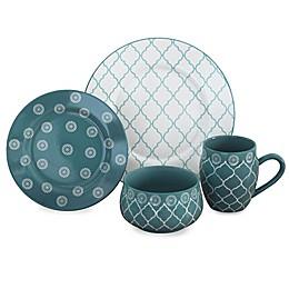 Baum Moroccan 16-Piece Dinnerware Set in Turquoise