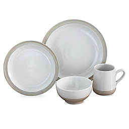 Baum Grayden 16-Piece Dinnerware Set in White