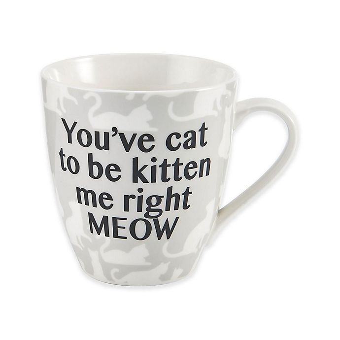 Pfaltzgraff Youve Cat To Be Kitten Me Right Meow Mug In White